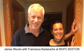 James Woods with Francesca Bastarache at the radio station